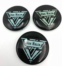 (3) Van Halen Vintage Rock Band Music Pin Buttons Pinbacks Lot