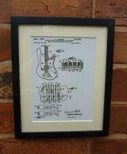 Usa patent dessin guitare FENDER battant ramassage musique mounted print 1964 cadeau