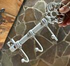 Farmhouse antique Cast Iron Skeleton Key Shaped Wall Shabby chic Coat Rack hooks