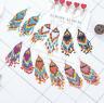 Boho Handmade Tassel Earrings Seed Beads Dangle Drop Earrings Bohemian Jewelry