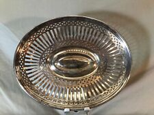 Art Krupp Berndorf Vintage Antique Basket Bowl 10.5""