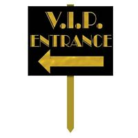 "V.I.P Entrance Yard Sign - Hollywood Party Decoration, VIP lawn signs 12"" x 15"""