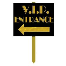 "V.I.P Entrance Yard Sign - Hollywood Party Decorations VIP lawn signs 12"" x 15"""