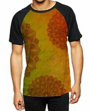 Patrón de Mandala Amarillo Naranja Para hombres Camiseta De Béisbol Todas Partes-Festival Yoga