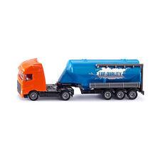 SIKU 1792 Volvo Camión con semirremolque De Silo NARANJA / Azul Escala 1:87