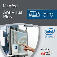 McAfee Antivirus Plus 2018 5 PC 12 Months License Antivirus 2017 5 users