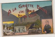 CARTE POSTALE COULEUR ANCIENNE - A LA GROTTE BENIE - SAINTE BERNADETTE-LOURDES
