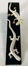 Vintage Lot of Figural Stylized Lizard Salamander Amphibian Brooches Pins