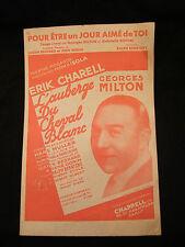 Partition L'ostello del cavallo bianco Erik Charell Georges Milton Music Sheet