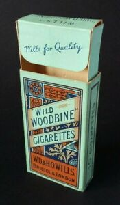 Vintage packet of 10 Wills Wild Woodbine cigarettes (empty).