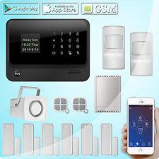 GSM Wifi SMS Sans fil système alarme sécurité Capteur Sirène,Sortie relais 4CH
