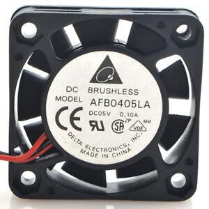 1pc Delta AFB0405LA 5V 0.1A 4010 4CM 2-wire Double Ball Cooling Fan