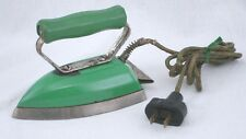 Vintage Samson Panelmatic Jr. Green Toy Electric Clothes Iron Works