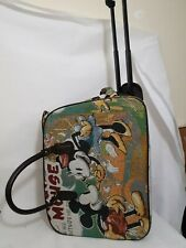 2 Wheeled Mickey Mouse Carpet Tapestry Style Bag/ Suitcase