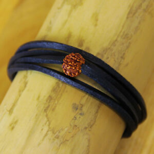 Surfer Leather Bracelet Wrap-Around Men's Women's Wrist Band Shiva Goa