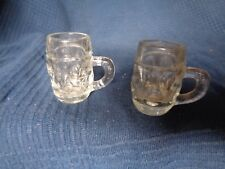 lot de 2 verres ancien chope a biere miniatures vintage