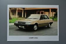 Sales Sheet Brochure: Toyota Camry 2.0 GLi