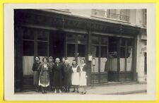 RARE Carte Photo vers 1940 PARIS 8 rue St Placide RESTAURANT A. JADIN Au Rallye