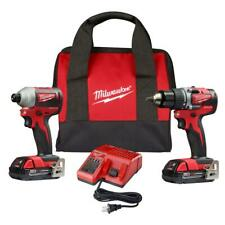 Milwaukee Miln2892-22Ct 18-Volt 2-Tool Drill Driver and Impact Driver Combo Kit