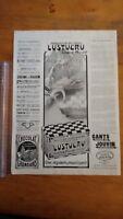 PUBLICITE ANCIENNE - PUB ADVERT 1912 LUSTUCRU - DOS FLAMIDOR - TURCATMERY