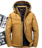 New Under Armour Winter Men's UA Down Hooded Jacket Down Coat Parka Down Wear