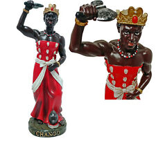 "12"" ORISHA CHANGO W/ AXE SANTERIA  YORUBA AFRICAN GOD SHANGO"