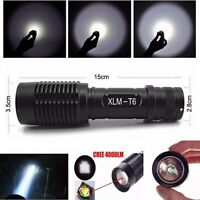 New 4000LM 5 Modes Zoomable Cree XML T6 LED 5 Modes Police Flashlight Lamp Torch