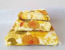 Vintage Yellow Floral Bath Towel Set
