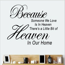Because Someone We Love Is In Heaven Wall Sticker Quote Art Decal Home Decor