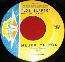 "7"" SINGLE 60s LOS BLANCO ** LATIN Guaguanco FRUKO Mango Cumbia LOS KENYA"