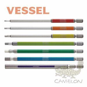 VESSEL GOSAI Color Coded HEX Driver Bit No.GSH H2-H8 100mm 1pcs Japan