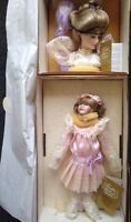 Franklin Mint Heirloom Porcelain Doll GIBSON GIRL Rare Mother & Daughter Set Box