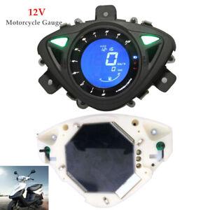 12V Motorcycle LCD Digital Odometer Speedometer Tachometer Fuel  Gauge Meter 1PC