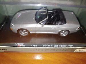 High Speed / DeAgostino 1:43 1993 Porsche 968 Convertible- Silver