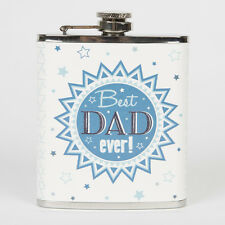 New - Sass & Belle Stainless Steel Hip Flask 'Best Dad Ever' Christmas Present