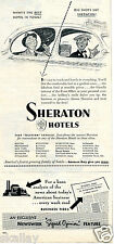 1951 Print Ad of Sheraton Hotels what's the best hotel in town?