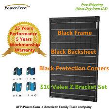 SUPER BLACK 40w 40 Watts Mono Solar Panel + Free $10 Mount - RV Boat 12v Battery