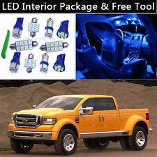 8PCS Bulbs Blue LED Interior Lights Package kit Fit 1999-2010 Ford Super Duty J1