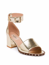 Valentino Garvani Soul Rockstud Metallic Leather Ankle-Strap Sandals Size 40 10