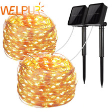 200LED Solar Waterproof Power Fairy Light String Party Wedding Decor Garden Out.