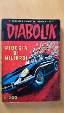 DIABOLIK anno X n. 1  Pioggia di miliardi  ORIGINALE  Sodip 1971