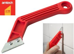 200mm Grout Remover Tool Rake File 2x Tungsten Carbide Blades Floor Wall Tile