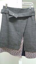 Haut Surabaya Paris France Layered Dark Grey Floral Asymmetric Belt Size 38 M S