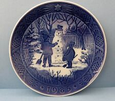Royal Copenhagen Collector's Plate 1985 The Snowman w/ Orig Box & Paperwork