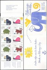 Sweden 1994 Greetings/Cat/Frog/Dog/Snail/Elephant/Cartoon/Animals 10v bklt b9124