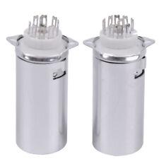 2PCS Generic 9pin PCB tube socket GZC9-F-B-55 blindage en aluminium FR 12AX7  ST