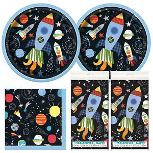 Outer Space  Happy Birthday Standard Party Pack and Table Cover - Serves 16