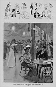 NEW YORK SUMMER GARDENS BY EDWARD PENFIELD DANCING PAVILLION FASHION DRINKS