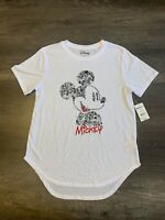 Disney Mickey Mouse White T-Shirt Junior's Large (11-13)
