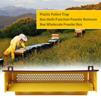 Yellow Plastic Bee Pollen Trap Collector For Apiculture Beekeeping Home Tools